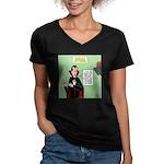 Dracula Spokesperson Women's V-Neck Dark T-Shirt