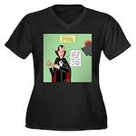 Dracula Spok Women's Plus Size V-Neck Dark T-Shirt