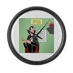 Dracula Spokesperson Large Wall Clock