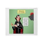 Dracula Spokesperson Throw Blanket