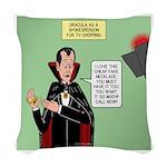 Dracula Spokesperson Woven Throw Pillow