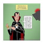 Dracula Spokesperson Tile Coaster