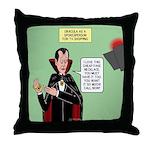 Dracula Spokesperson Throw Pillow