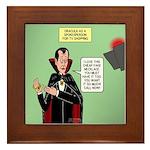 Dracula Spokesperson Framed Tile