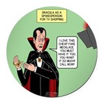 Dracula Spokesperson Round Car Magnet