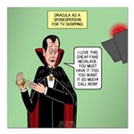 Dracula Spokesperson Square Car Magnet 3