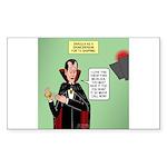 Dracula Spokesperson Sticker (Rectangle 50 pk)