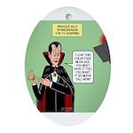 Dracula Spokesperson Oval Ornament