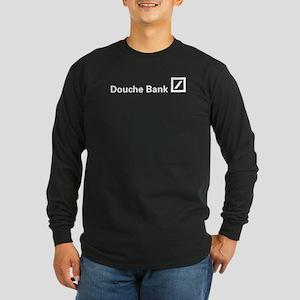 Douche Bank (White) Long Sleeve Dark T-Shirt