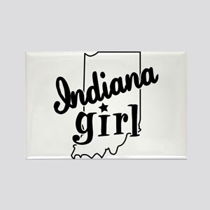 Indiana Girl Rectangle Magnet