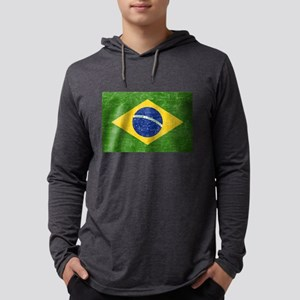 Vintage Brazil Flag Long Sleeve T-Shirt