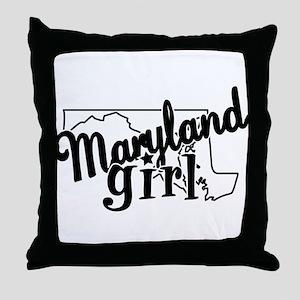 Maryland Girl Throw Pillow