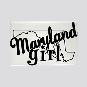 Maryland Girl Rectangle Magnet