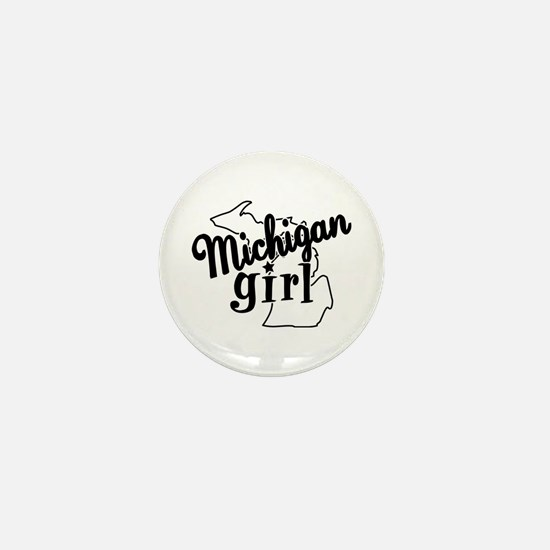 Michigan Girl Mini Button