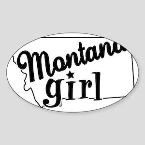 Montana Girl Oval Sticker