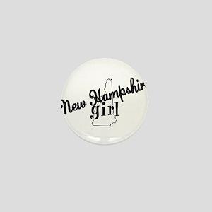 New Hampshire Girl Mini Button