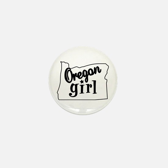 Oregon Girl Mini Button