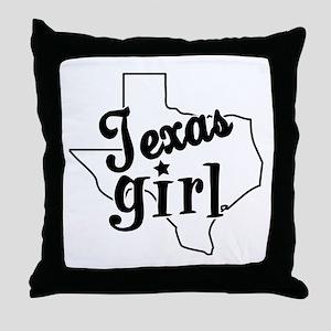 Texas Girl Throw Pillow