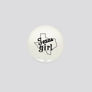 Texas Girl Mini Button
