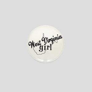 West Virginia Girl Mini Button