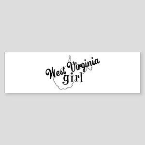 West Virginia Girl Bumper Sticker