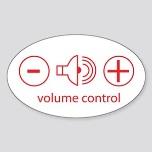 Volume Control Oval Sticker