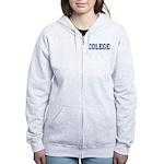 Colege (Navy) Women's Zip Hoodie