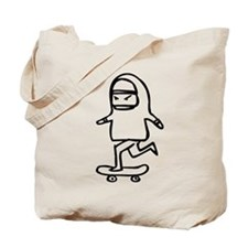 Skater Y (Black) Tote Bag
