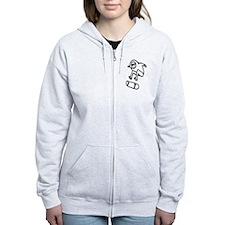 Skater Z (Black) Women's Zip Hoodie