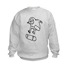 Skater Z (Black) Kids Sweatshirt