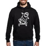 Skater K (White) Hoodie (dark)