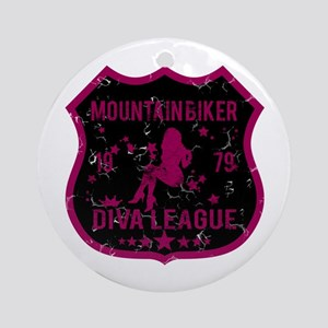 Mountain Biker Diva League Ornament (Round)