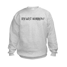 Infant Sorrow (Black) Kids Sweatshirt