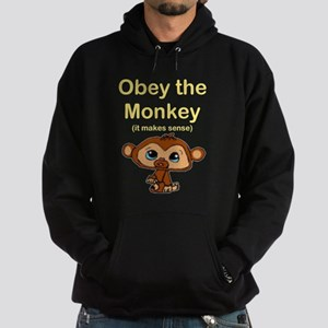 """Obey the Monkey, (it makes s Hoodie (dark)"