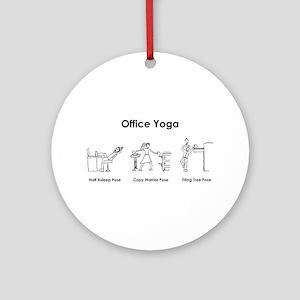 Office Yoga Ornament (Round)