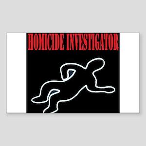Homicide Investigator Rectangle Sticker 10 pk)