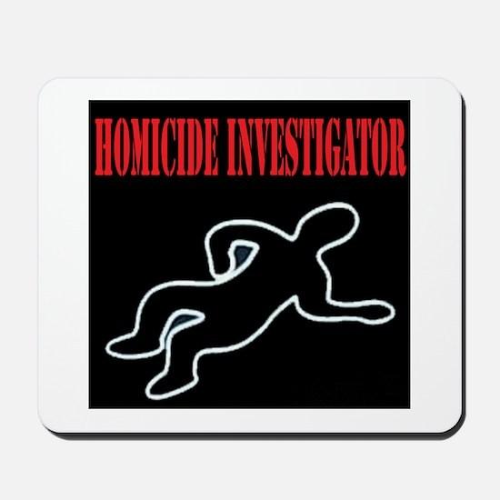 Homicide Investigator Mousepad