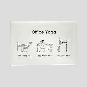 Office Yoga Rectangle Magnet