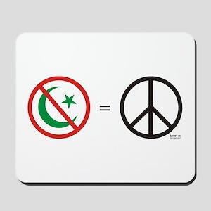 No Islam, Know Peace Mousepad
