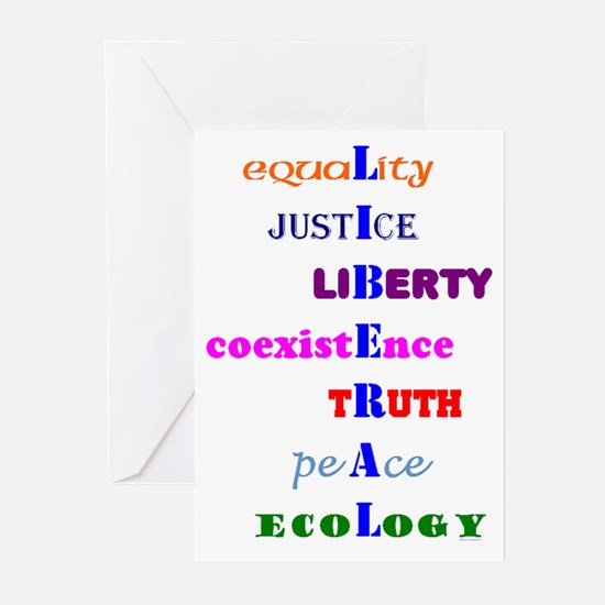 I am Liberal Greeting Cards (Pk of 10)