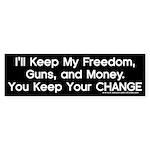 Keep Your Change Bumper Sticker