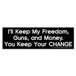 Keep Your Change Bumper Sticker