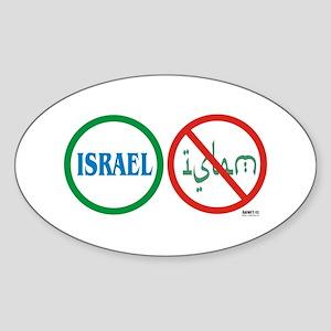 Israel, Not Islam Oval Sticker