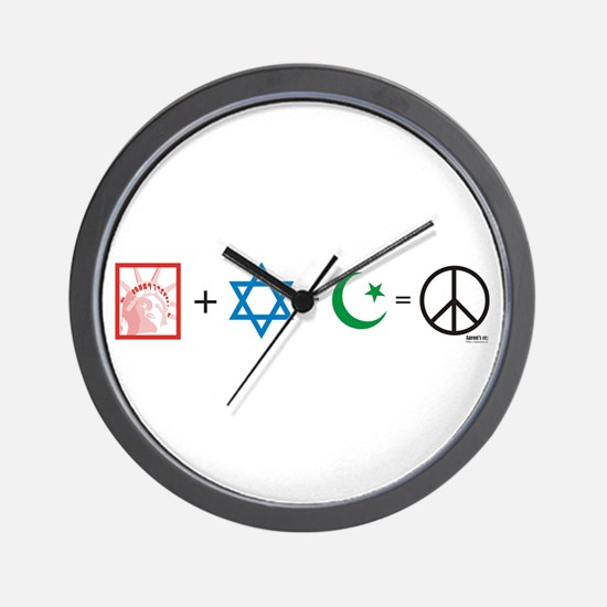 USA plus Israel minus Islam is Peace Wall Clock