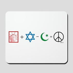 USA plus Israel minus Islam is Peace Mousepad