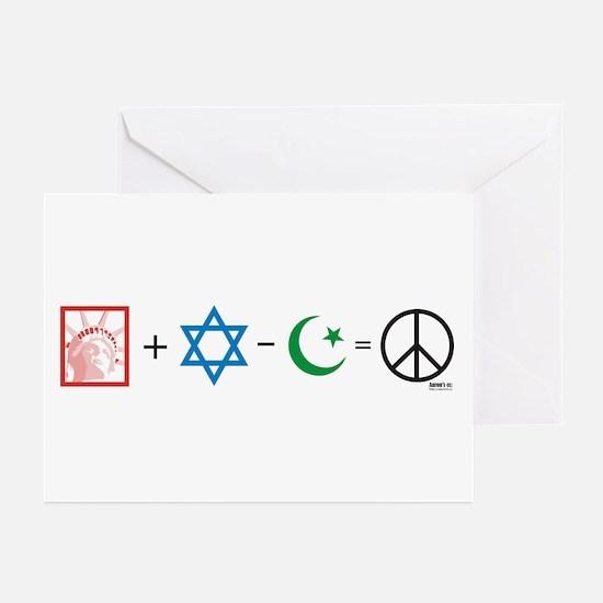 USA plus Israel minus Islam is Peace Greeting Card