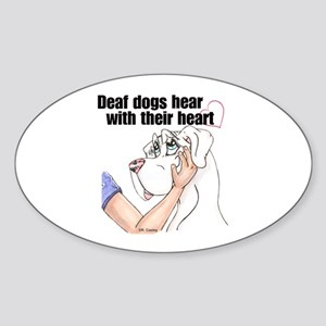 Nw DD Hear With Their Heart Oval Sticker