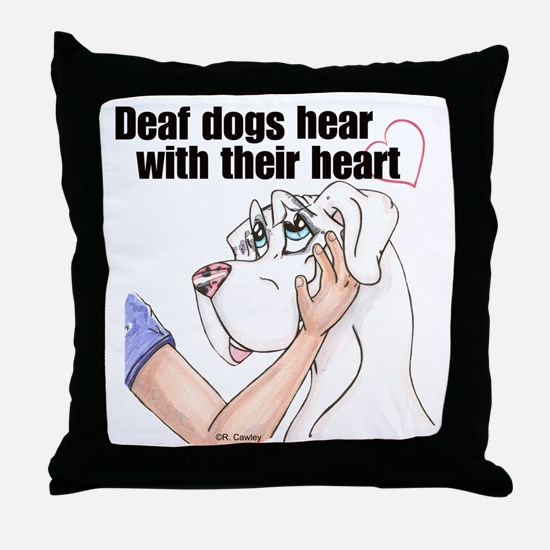 Nw DD Hear With Their Heart Throw Pillow
