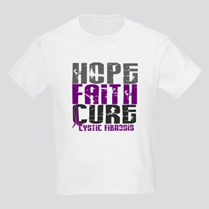 HOPE FAITH CURE Cystic Fibrosis Kids Light T-Shirt