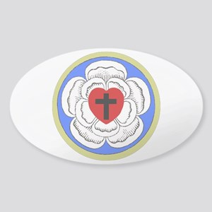 Luther Seal 1 Oval Sticker